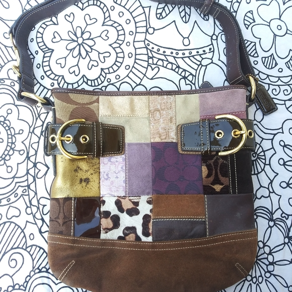 Coach Handbags - Coach monogram patch work shoulder bag